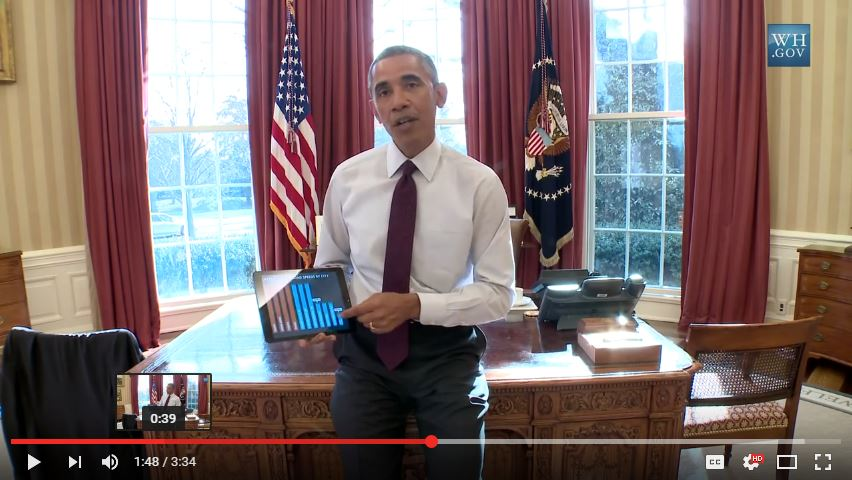 President Obama talk about broadband speed