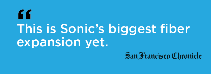 "Chronicle: ""This is Sonic's biggest fiber expansion yet."""
